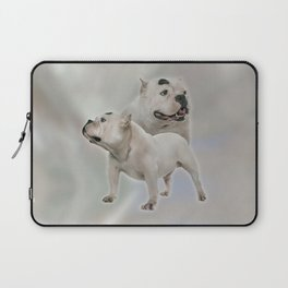 White American Bully Laptop Sleeve
