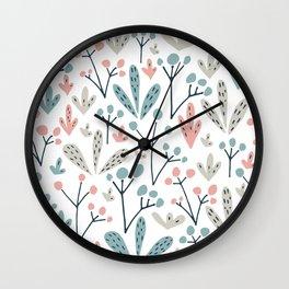 Mixed  and colore summer Wall Clock