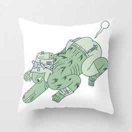 wazmunster poot poot  Throw Pillow