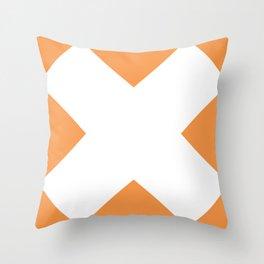 X WHITE Throw Pillow