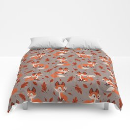 Cute Foxes Comforters
