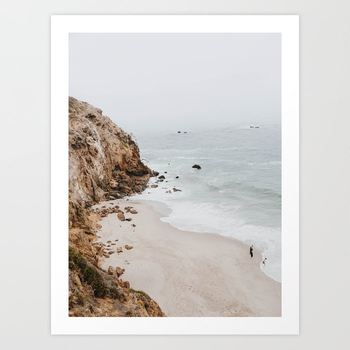Malibu coast / California Art Print