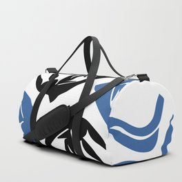 Girl with flowing hair jumping for joy Duffle Bag
