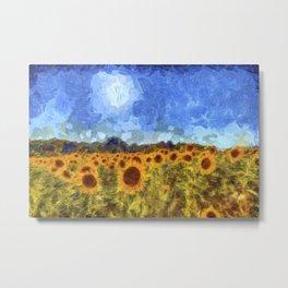 The Sunflowers Van Gogh Metal Print