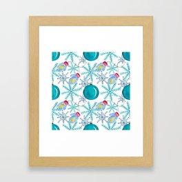 Blue Snowflakes #3 Framed Art Print