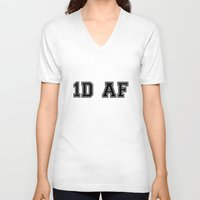 1d V-neck T-shirts featuring 1D AF by SaladInTheWind