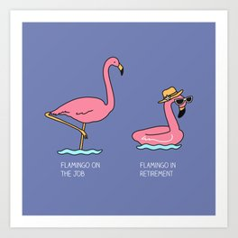 Types of flamingo Art Print