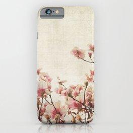 Vintage-Inspired Pink Magnolia iPhone Case