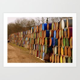 Glastonbury Bins Art Print