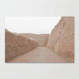 Ruins sand chan chan Canvas Print