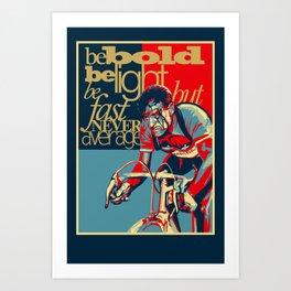 Retro Cycling Print Poster Hard as Nails  Art Print