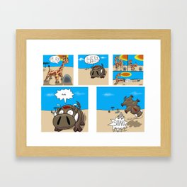Play cartoon Framed Art Print
