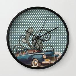 Vintage Woman Neck Gator Classic Car Antique Car Vintage Lady Wall Clock