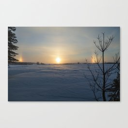 Winter Sundogs 8 Canvas Print