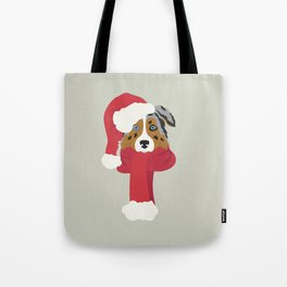 Australian Shepherd Christmas Dog Tote Bag