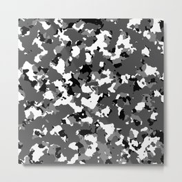 Winter Ice Camo Metal Print