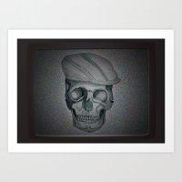 TV Skull Art Print
