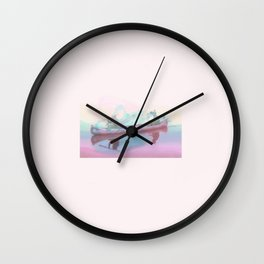 Colourful Canoeing Wall Clock