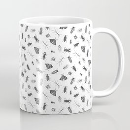 Insects Pattern on White Coffee Mug