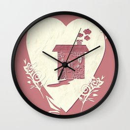 Home Happy Home Wall Clock