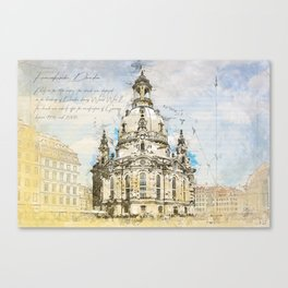 Frauenkirche, Dresden Germany Canvas Print