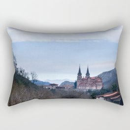 Basilica of Covadonga in the mountains, Spain Rectangular Pillow