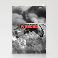 gta Stationery Cards featuring Wasted GTA by JOlorful