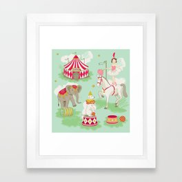 Vintage Circus Framed Art Print