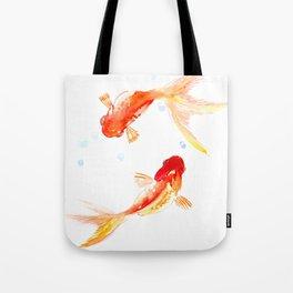 Goldfish, Two Koi Fish, Feng Shui, yoga Asian meditation design Tote Bag