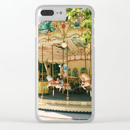 paris carousel Clear iPhone Case