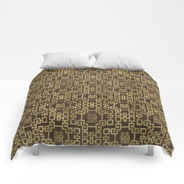 Chinese Pattern Double Happiness Symbol Gold on Wood Comforters