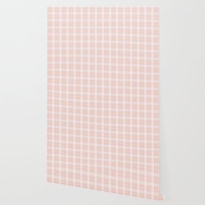 Spring 2017 Designer Color Pale Pink Dogwood Tartan Plaid Check Wallpaper
