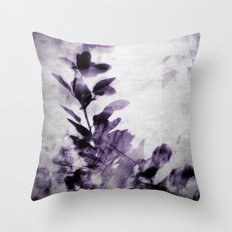 purple leaves Throw Pillow