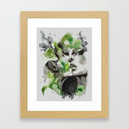 Kiss by carographic Framed Art Print