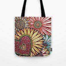 I Love Flowers Tote Bag