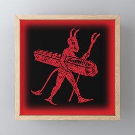 Vintage Little Devil Framed Mini Art Print