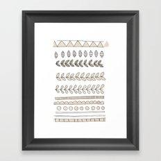 Pastel Patterns - Natural Framed Art Print