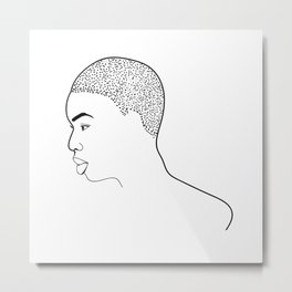 Beautiful Afro Profile Metal Print