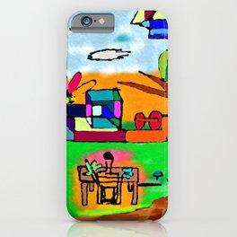 Il giardino e le nuvole iPhone Case
