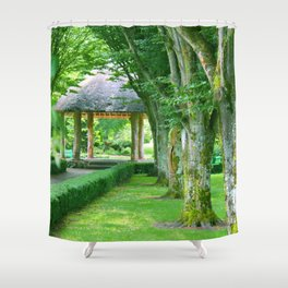 Green Gazebo Shower Curtain