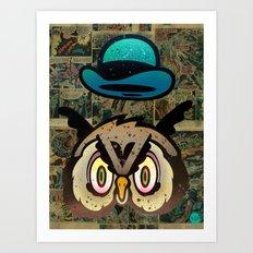 Owl Howl Art Print