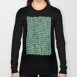 Hand Knit Mint Long Sleeve T-shirt