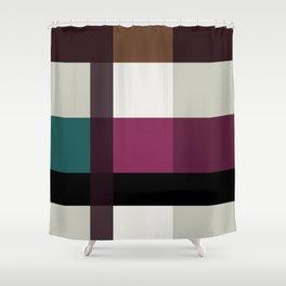 Chocolate Fudge and Berries Shower Curtain