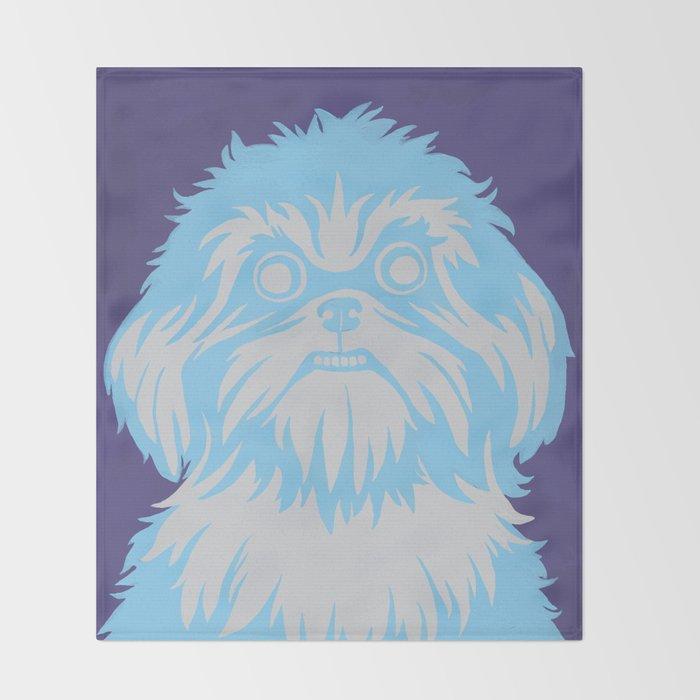 Shih Tzu Stare Throw Blanket
