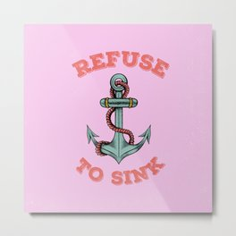 Anchor tattoo Metal Print