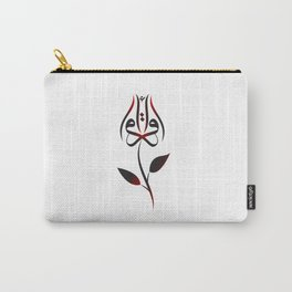 Arabic Iqra (read) budding rose - Red Carry-All Pouch