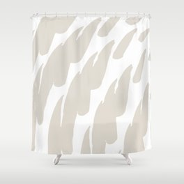 Neutral Abstract Brush Marks Shower Curtain
