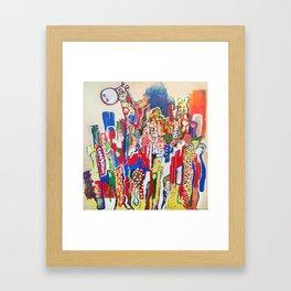 Giraffe City  Framed Art Print