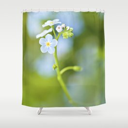 Delicate blue flowers Shower Curtain
