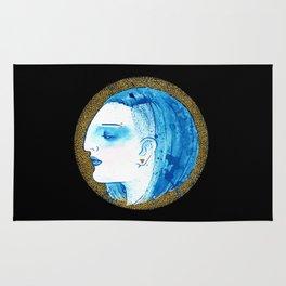 Blue portrait Rug
